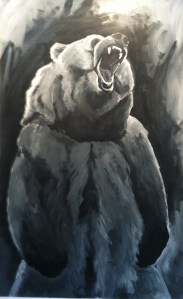 "Bearable, 60""h x 30""w, House Paint and Cattle Marker"