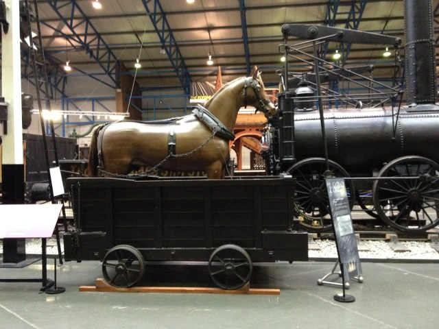 Dandy cart at National Railway Museum, York. By Rosemary Forrest.