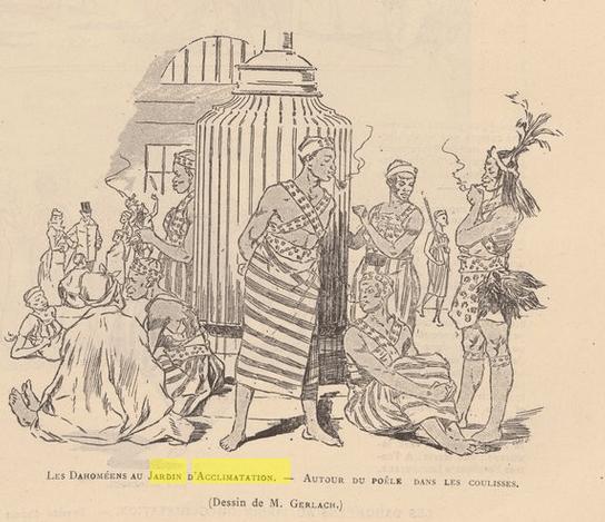 Selika Dahomey behind the scenes