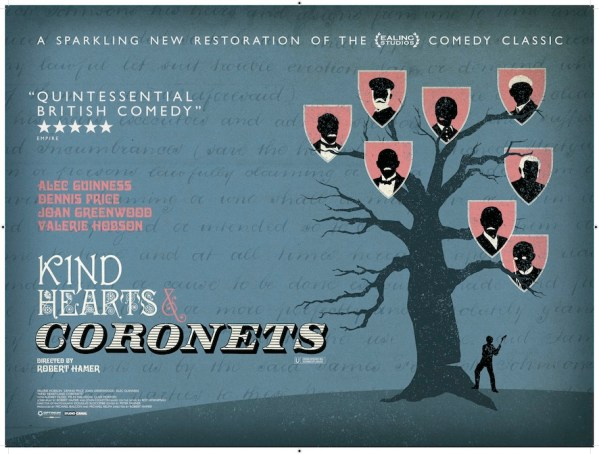 Kind Hearts & Coronets poster by Sam Ashby