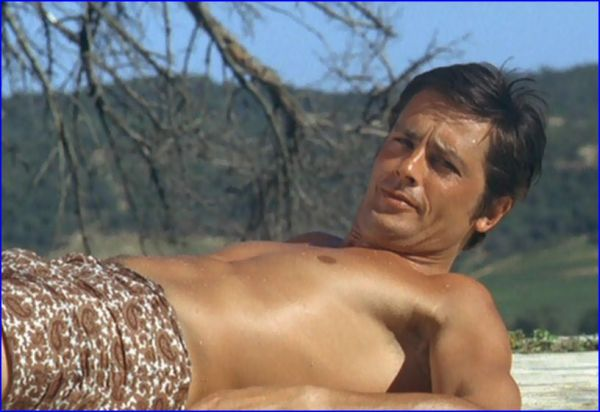 Alain Delon in La Piscine