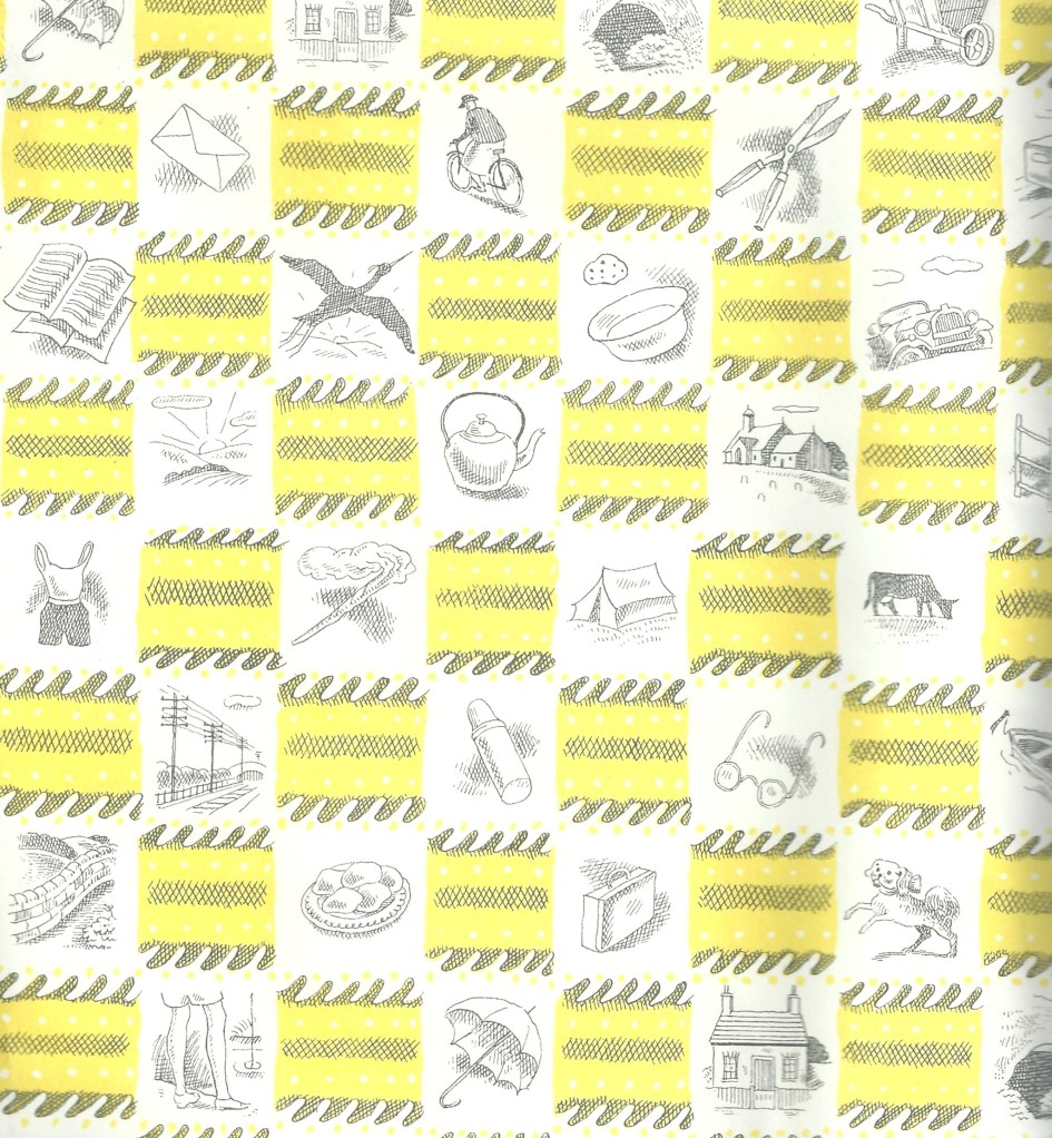 Daunt Books 50s style wrapping paper