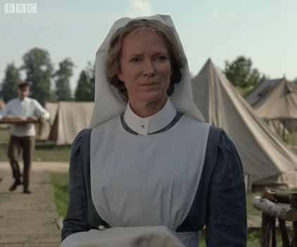 Hermione Norris in The Crimson Field (BBC1)