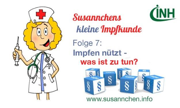 Susannchens kleine Impfkunde – Heute: Impfen nützt ! Was ist zu tun?