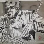 Er war ein alter Mann, der allein in einem - Zeichnung von Susanne Haun