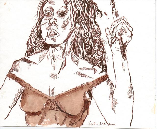 Selbst - Zeichnung von Susanne Haun