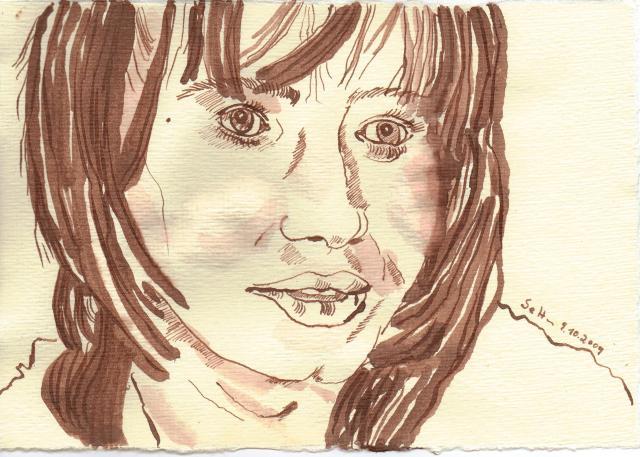 Nicole - Zeichnung von Susanne Haun