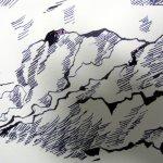 Ausschnitt 3 Zeichnung Wolken von Susanne Haun