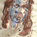 Kelte 1 - Zeichnung von Susanne Haun - 30 x 20 cm - Tusche und Aquarell auf Bütten