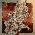 Blumenstrauß - Zeichnung von Susanne Haun - 25 x 25 cm - Tusche auf Bütten