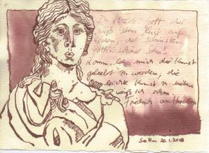 Der Wunsch - Zeichnung von Susanne Haun