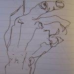 Hand 3 - Skizze von Susanne Haun