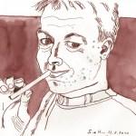 Mein Bruder - Zeichnung von Susanne Haun - 20 x 30 cm - Tusche auf Bamboo Papier
