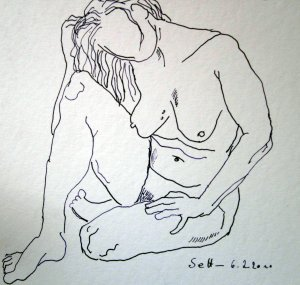 Skizze liegender Akt  von Susanne Haun