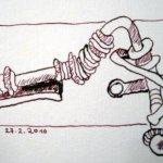 Fehdereifen, Teil 2, Zeichnung von Susanne Haun