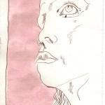 Gewicht des Feuers - Zeichnung Susanne Haun - 20 x 15 cm - Tusche auf Silberburg Bütten