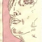 Der gestrige Tag - Zeichnung Susanne Haun - 20 x 15 cm - Tusche auf Silberburg Bütten