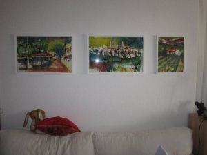 Wohnzimmer - Aqarelle von Andreas Mattern