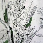 Entstehung Gerdas Blumenstrauß - Zeichnung von Susanne Haun