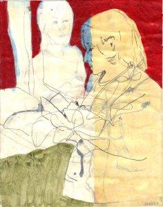 Zeichnung - 24 x 32 cm - von Skadie Engeln - Sammlung Susanne Haun