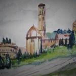 Volterra - Aquarell von Susanne Haun - 30 x 40 cm