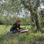 Ich unter dem Olivenbaum - Foto von Conny Niehoff