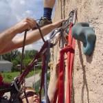 """2004: Trockenübung """"Standplatz bauen"""" , mein Sohn Julian - Foto von Marion Fehlker"""