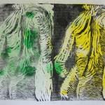 Akt mit Handtuch - Linoldruck von Susanne Haun - 4/12 - 18 x 26cm
