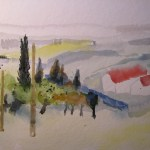 Entstehung Landschaft Toskana Zustand 3