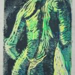 Akt mit Handtuch - Linoldruck von Susanne Haun - 9/12 - 18 x 13 cm