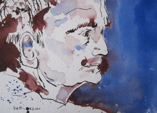 Emil Schumacher - Zeichnung von Susanne Haun - 17 x 24 cm - Tusche auf Bütten