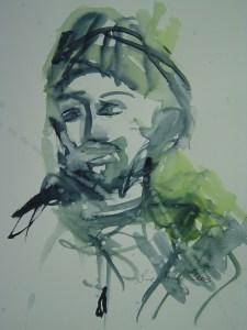 Andreas 2003 - Aquarell von Susanne Haun - 40 x 30 cm