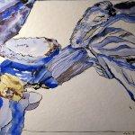 Lavendelblüte - Zeichnung von Susanne Haun - 36 x 48 cm - Tusche und Aquarell auf Bütten