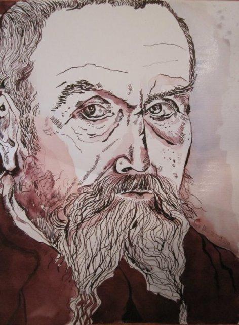 Lucas Cranach der Ältere - Zeichnung von Susanne Haun - 40 x 30 cm - Federzeichnung auf Bütten