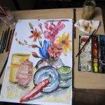 Arbeitstisch von Susanne Haun