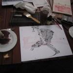 Mein Pilz macht Fortschritte, das liegt am leckeren Kaffee - Foto von Susanne Haun