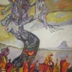 Der Baum der Verwandlung - 2006 - Acryl auf Leinwand von Susanne Haun 240 x 160 cm