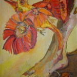 Der Paradiesvogel - 2006 - Acryl auf Leinwand von Susanne Haun 240 x 160 cm