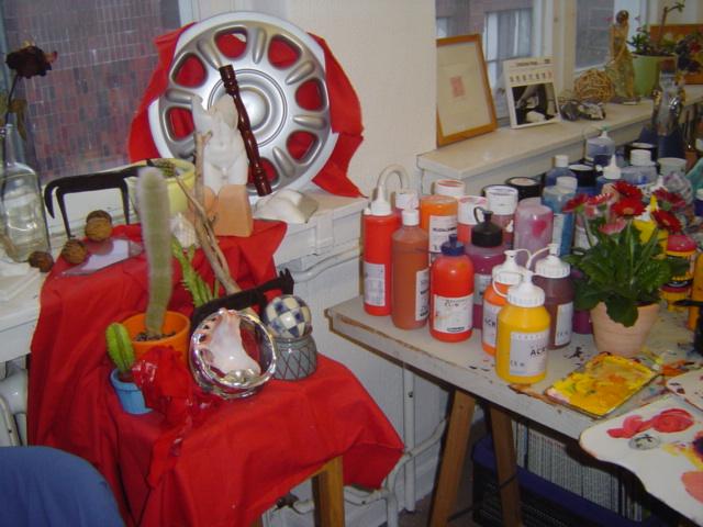 Stillleben in meinem ersten Atelier Tegel Süd Berlin - Foto von Susanne Haun
