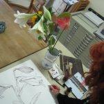 Entstehung Zeichnung Lilie von Susanne Haun