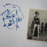 Entstehung Zeichnung Frau an der Ostsee von Susanne Haun