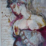 o.T. - Gemälde von Susanne Haun 2006 - 40 x 30 cm - Tusche und Acryl auf Leinwand - verkauft