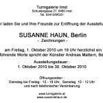 Einladung Ausstellung Susanne Haun in der Turmgalerie Imst