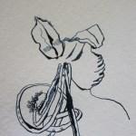 Entstehung Blume Zeichnung von Susanne Haun