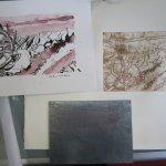 Zeichnung, Radierung und Zinkplatte - Foto von Susanne Haun