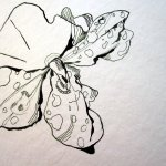 Ich beginne mit einem fleissigen Lieschen - Zeichnung von Susanne Haun