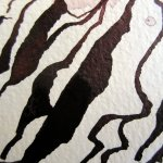 Ausschnitt 3. Zeichnung von Susanne Haun - Strucktur von den Sandbergen