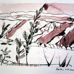 2. Zeichnung Welzow - Zeichnung von Susanne Haun 15 x 20 cm - Tusche auf Bütten