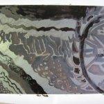 So sieht die Platte nach der Säure aus - Foto von Susanne Haun