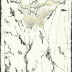 Boris war so kraftvoll - 2004 - Zeichnung von Susanne Haun - 20 x 15 cm - Radiograph auf Silberburg Bütten